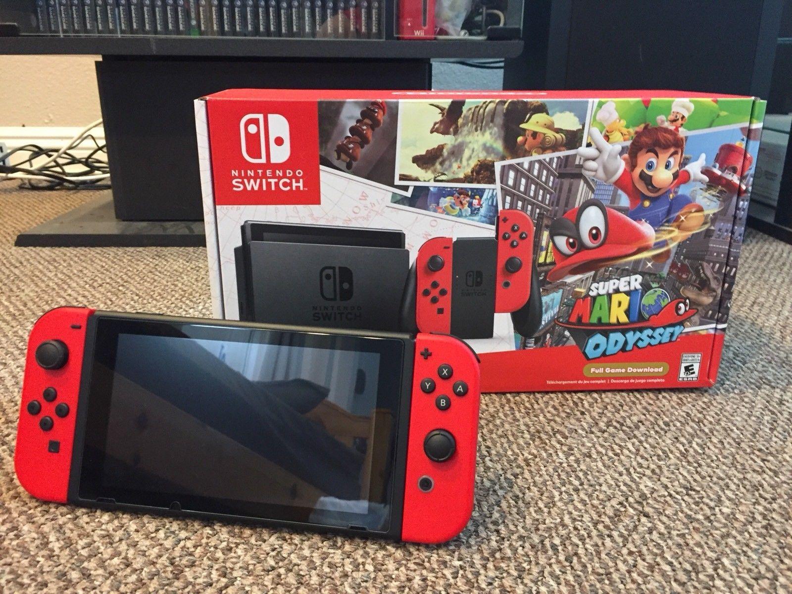Nintendo Switch Super Mario Odyssey Edition +3 Games, 200Gb Microsd,
