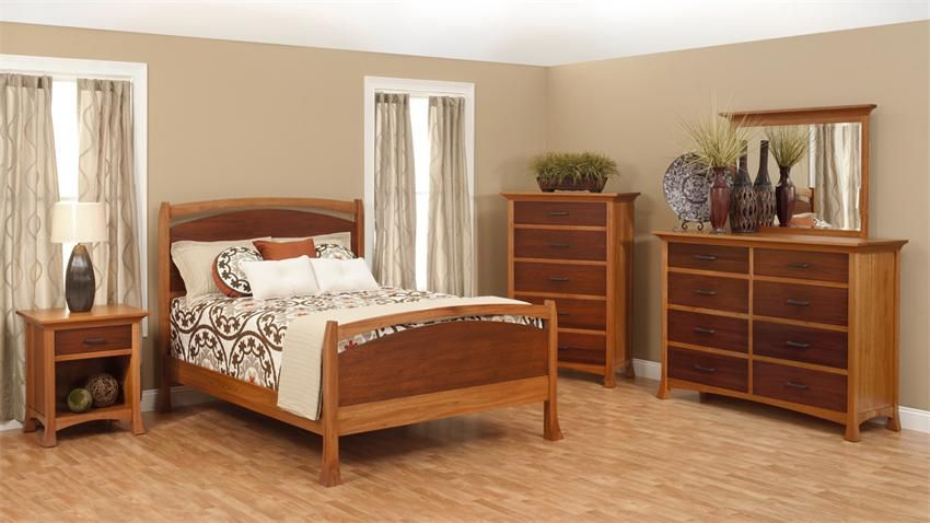 Panel Bed Mirage Furniture Made In USA Outlet Discount Furniture Selections  BED Discount Furniture At Amish Oak And Cherry, Hickory, NC