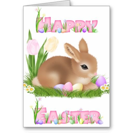 Easter Bunny (Pink) Greeting Card ............ http://www.zazzle.com/easter_bunny_pink-137836564832852105?rf=238631258595245556
