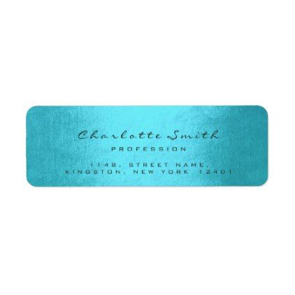 Grey Gray Ocean Name RSVP Profession Event Planner Label chic