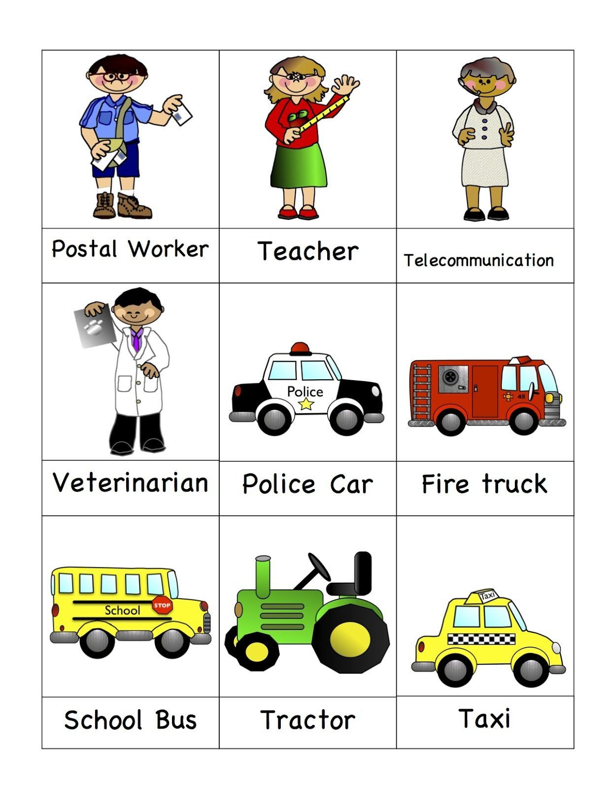 Community Helpers Kindergarten Worksheets In