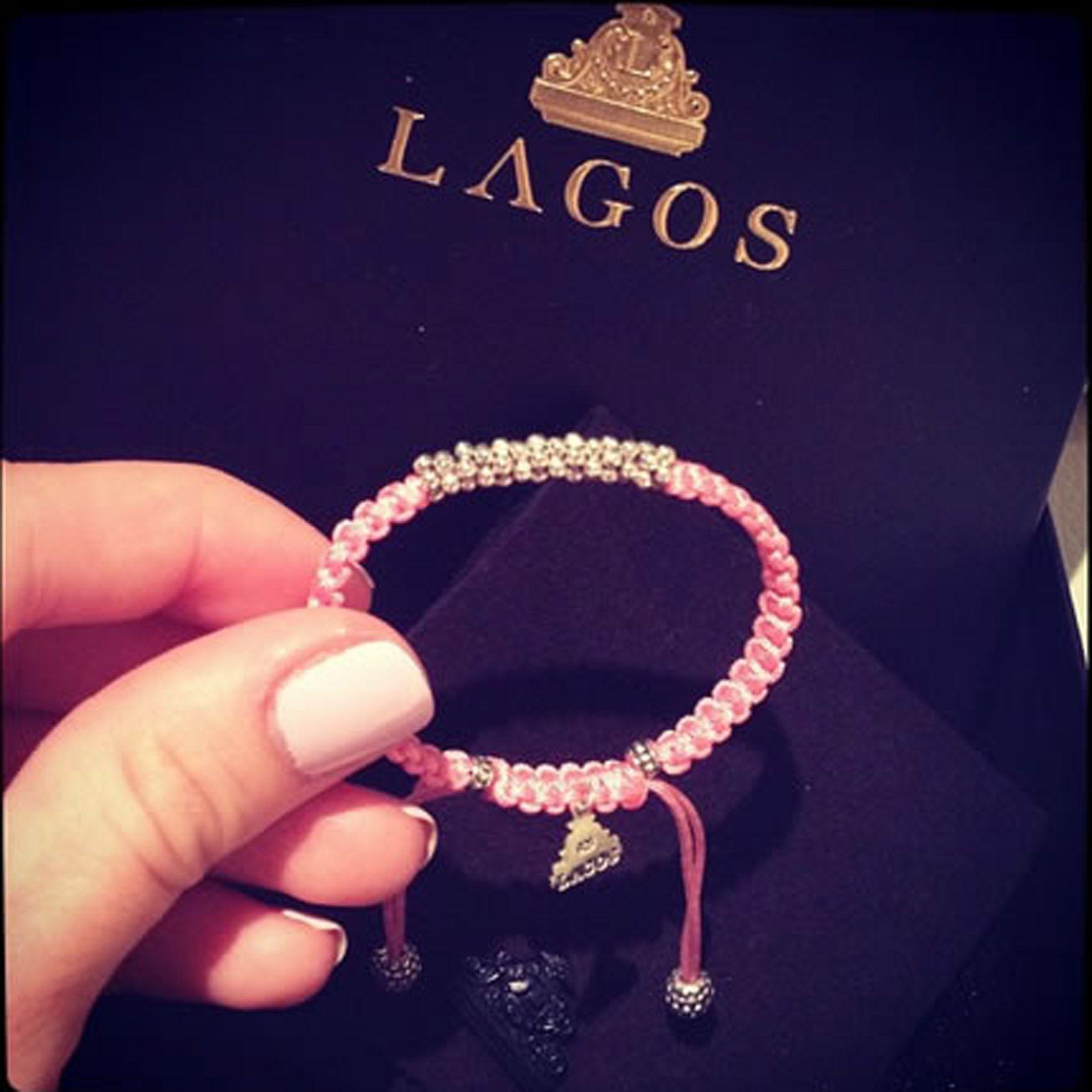 Lagos Kinder Sterling-Silver Macrame Bracelet, Pink