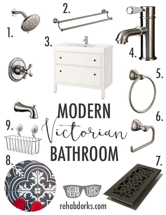 A Modern Victorian Bathroom Design