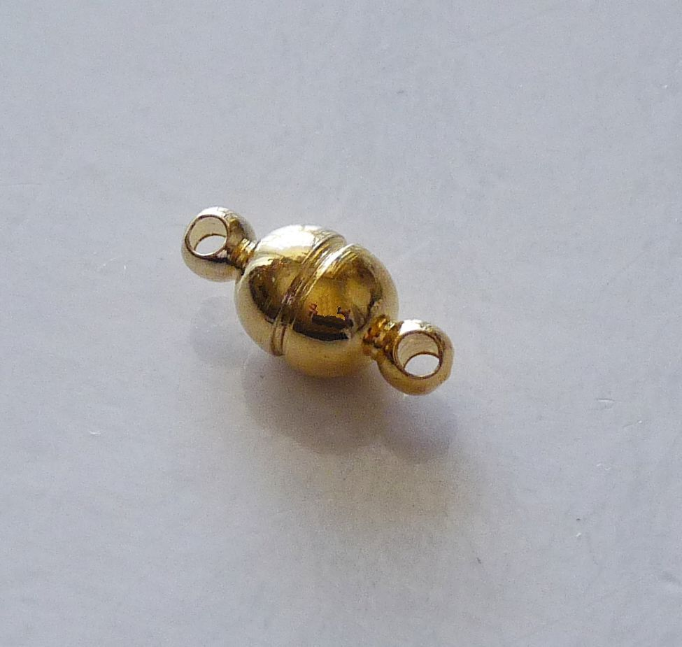 10Pcs Magnetic Clasps Strong Silver Gold Plated For Necklace Jewelry Making ME