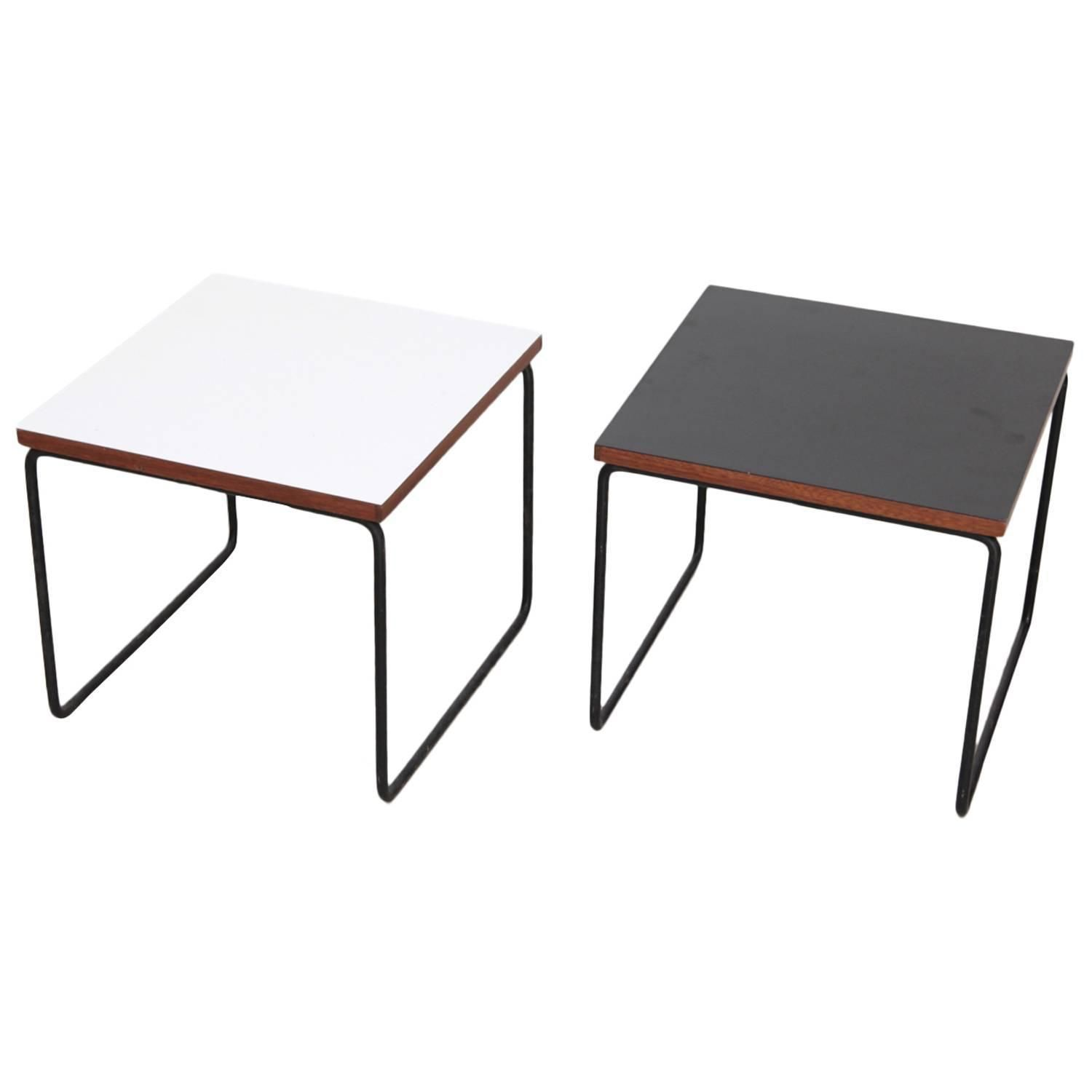 Pair Of Pierre Guariche Side Or End Tables For Steiner France Around 1950
