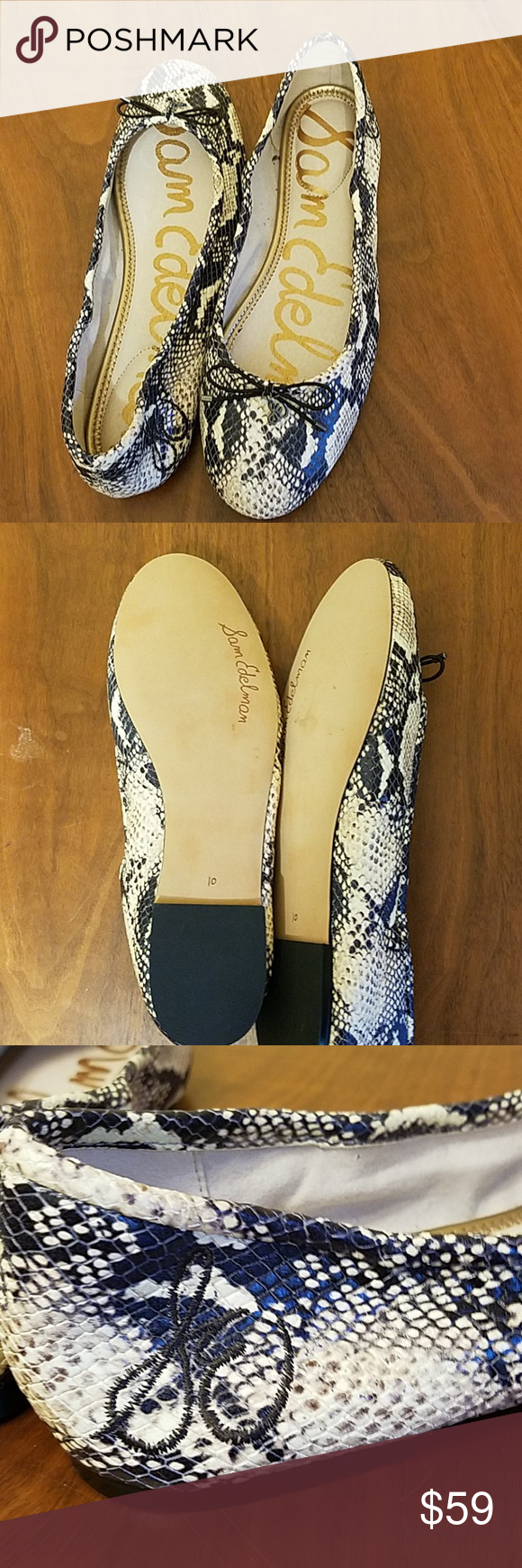 9098917da Sam Edelman Felicia Snake Print Flats Brand new. No tags or box. Size 10  but runs small. I usually take 9 or 9.5. Sam Edelman Shoes Flats   Loafers