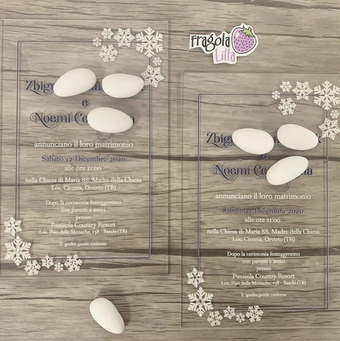 01 Partecipazioni Personalizzate Fragola Lilla Nel 2020 Partecipazione Matrimonio Invernale Matrimonio