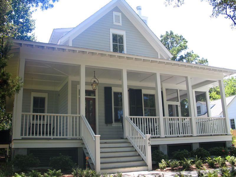 Sugarberry cottage with extended front porch