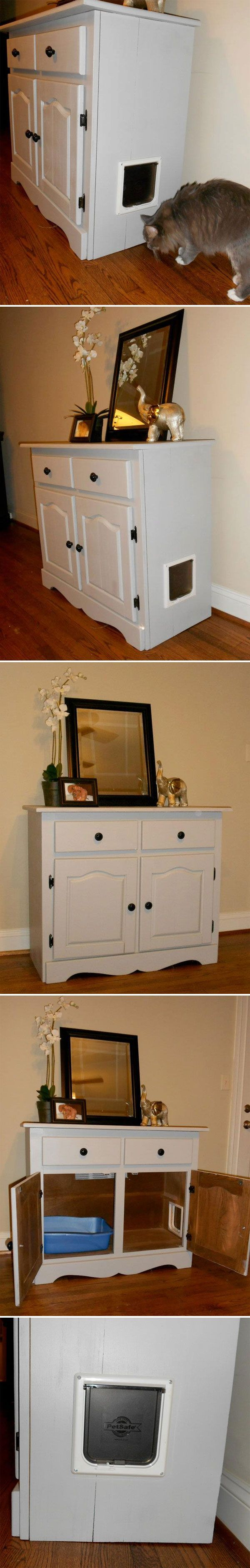 Inspiration Cat Litter Cabinet How Cool Is This Custom Built
