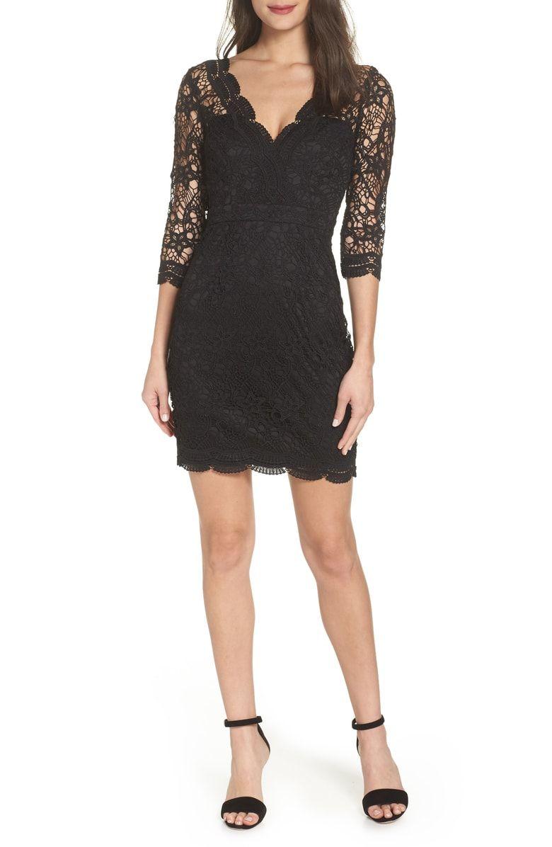 Lulus Lace Cocktail Dress Nordstrom Cocktail Dress Lace Black Dresses Classy Black Lace Cocktail Dress [ 1196 x 780 Pixel ]
