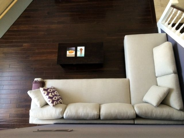 Custom Nina Style Sofa Or Sectional Leather Fabric Ships Nationwide