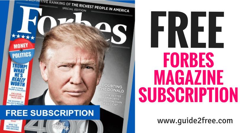 FREE Forbes Magazine Subscription Free magazine