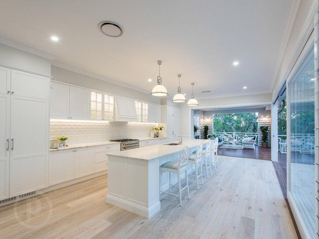 stunning hamptons queenslander style home in brisbane farmhouse style kitchen modern on kitchen interior queenslander id=94856