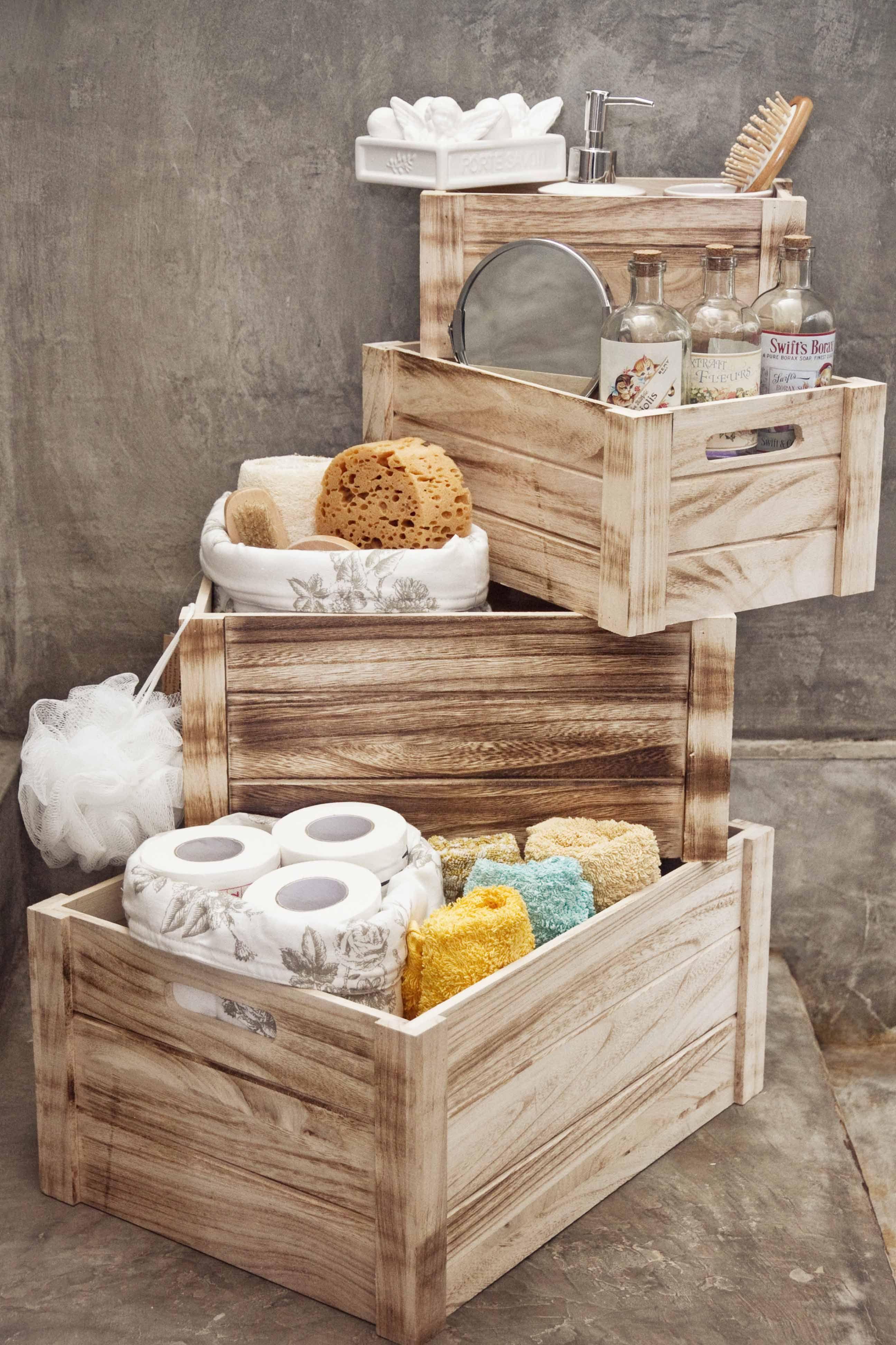 Nada mejor que unas cajas para tenerlo todo en orden for Accesorios decorativos para el bano
