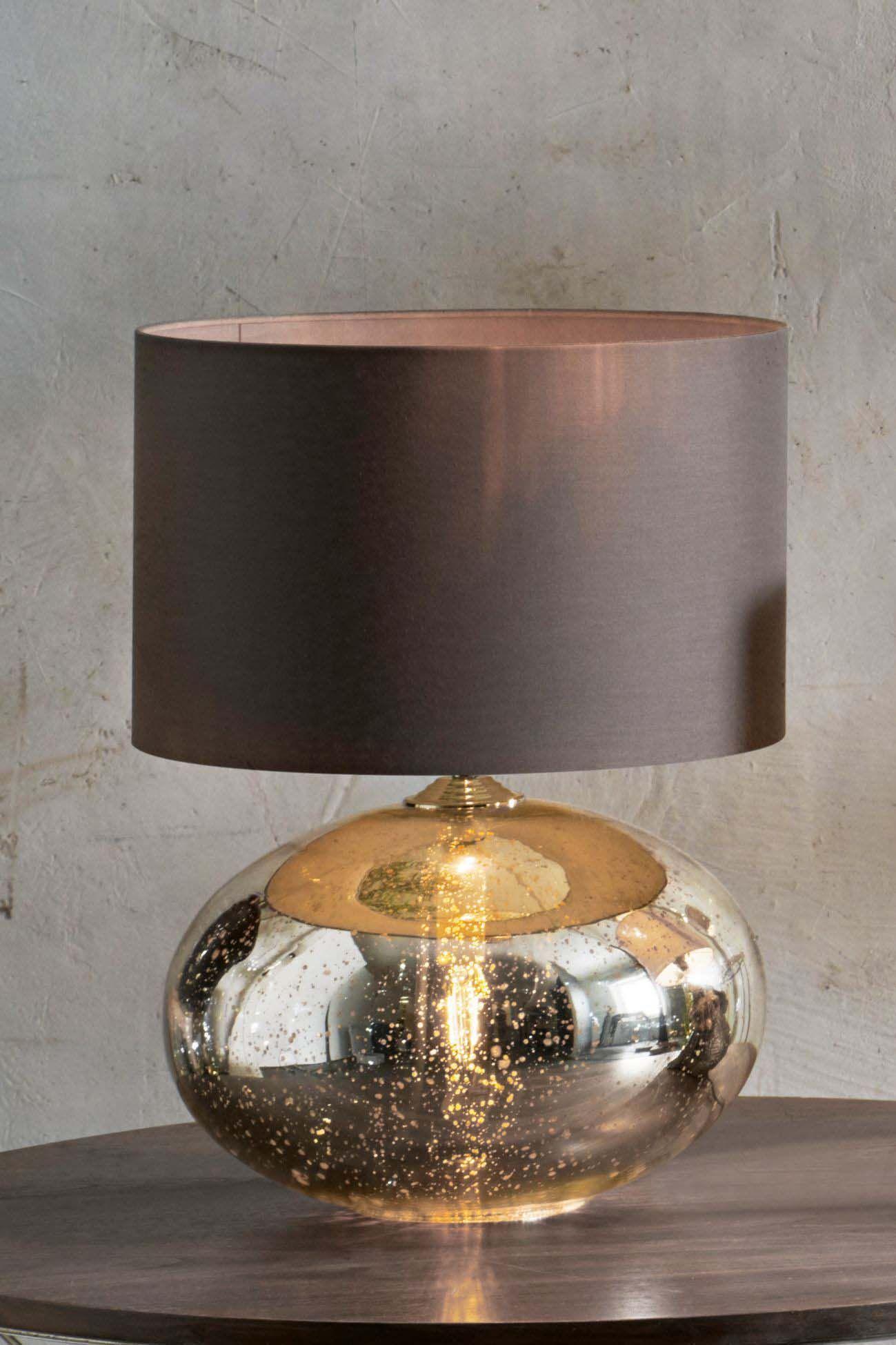 Next Petra Dual Light Gold Mercury Table Lamp Gold