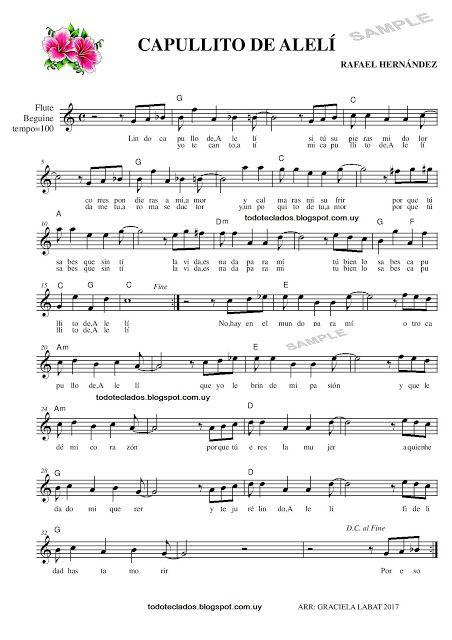 Capullito De Aleli Rafael Hernández Partituras Partituras De Piano Gratis Partituras Trompeta
