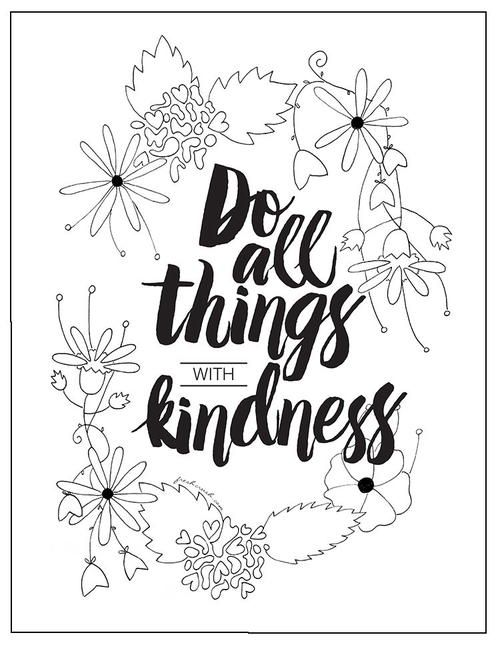 With Kindness Coloring Page Free Adult Coloring Pages Free