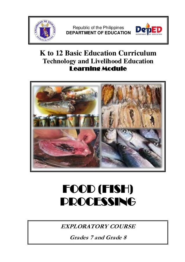 K To 12 Basic Education Curriculum Technology And Livelihood Education Learning Module Food