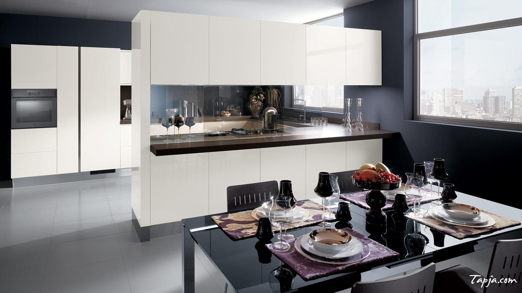 Fascinating Italian Modern Kitchen Design With White Cabinet And Prepossessing Modern Kitchen Design Photos Design Decoration