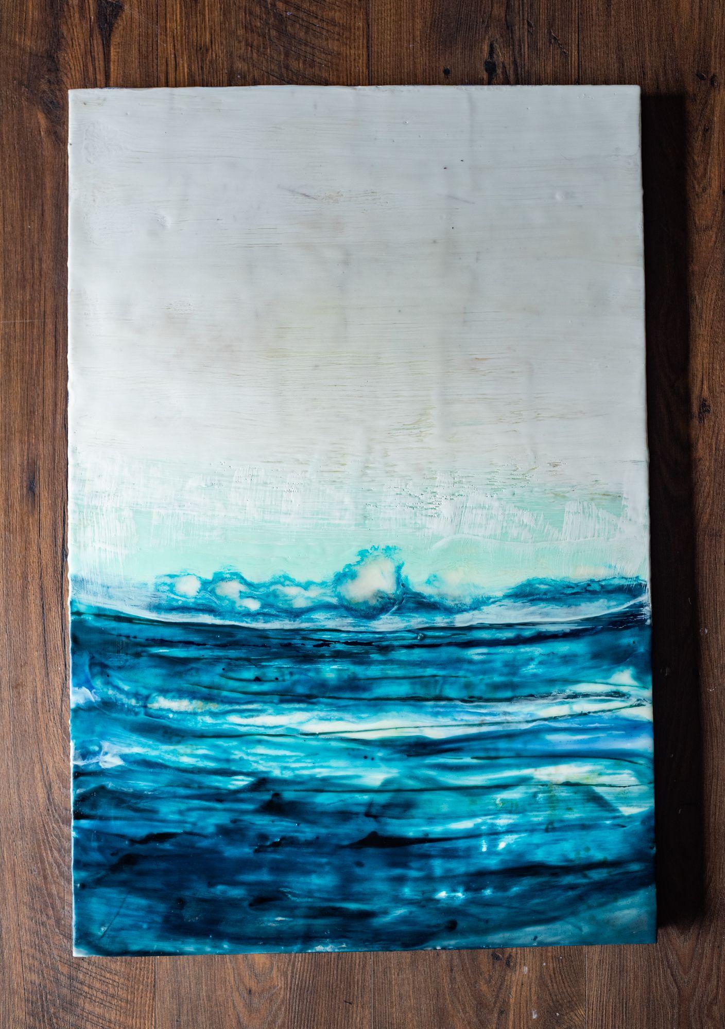 Wood Panel Wood Panel Oil Painting Beeswax Encaustic Painting- Original Art