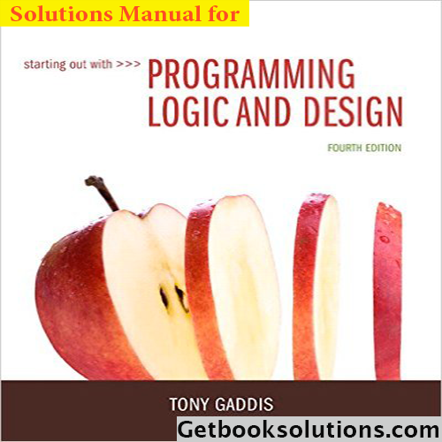Solution Manual For Starting Out With Programming Logic And Design