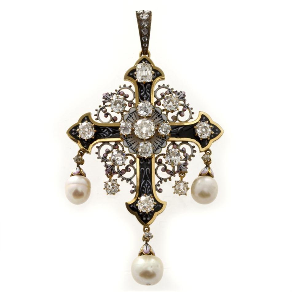 1418 Best Bentley Beautiful Images On Pinterest: Una Multa Francés Esmalte, Perlas Y Colgante De Diamante