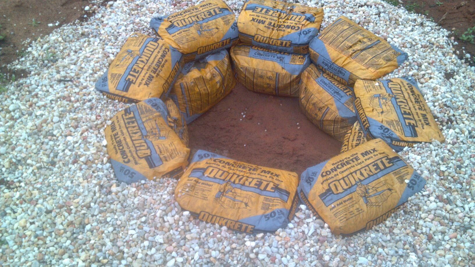 Fire Pit My Husband Used Bags Of Quikrete Slit Holes