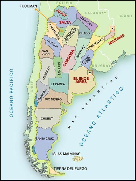 Origen De Las Palabras Argentina Argentina South America And - Argentina mapa