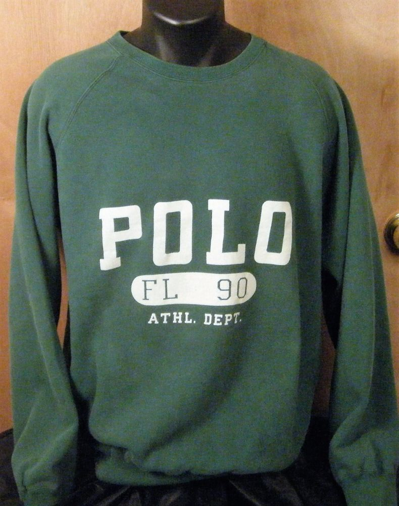 Vintage Polo by Ralph Lauren FL 90 Athl Dept Green Spell