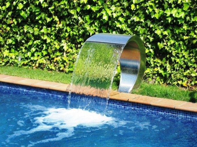 Chorros Cascadas Cortinas Y Cañones De Agua Para Piscinas Pc Pools Piscinas Piletas De Agua Agua Piscina