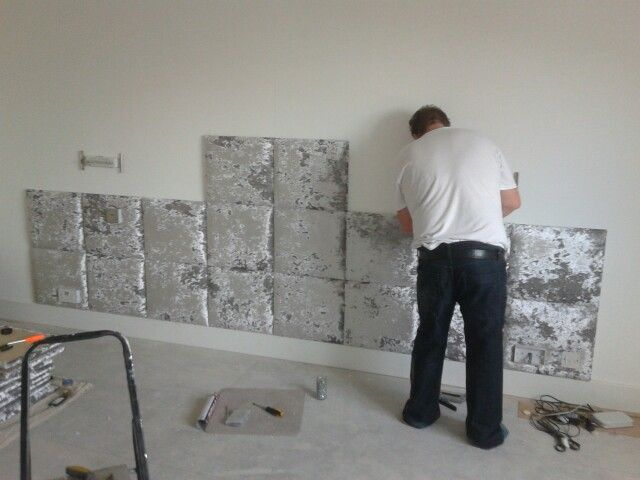 Leicester Leicestershire Silver Bedroom Upholstered Walls