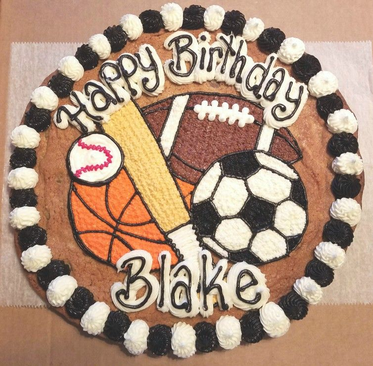 Sports Cookie Cake With Images Sports Themed Cakes Sports