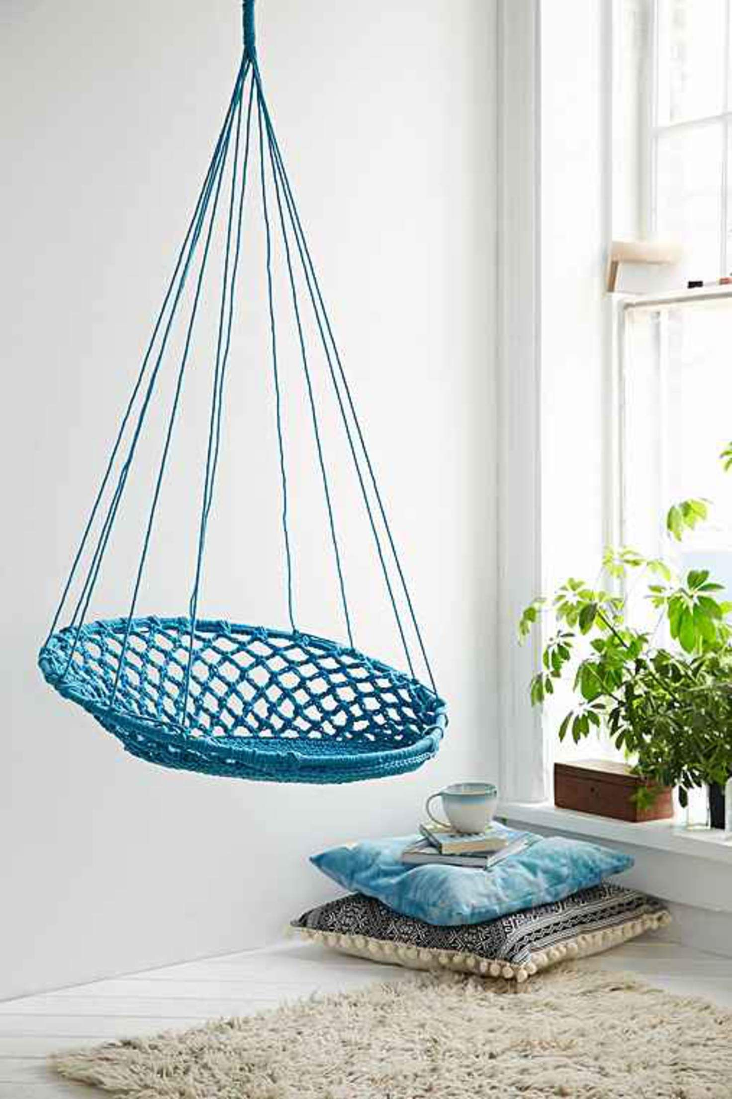 Cuzco hanging chair turquoise one furniture design pinterest
