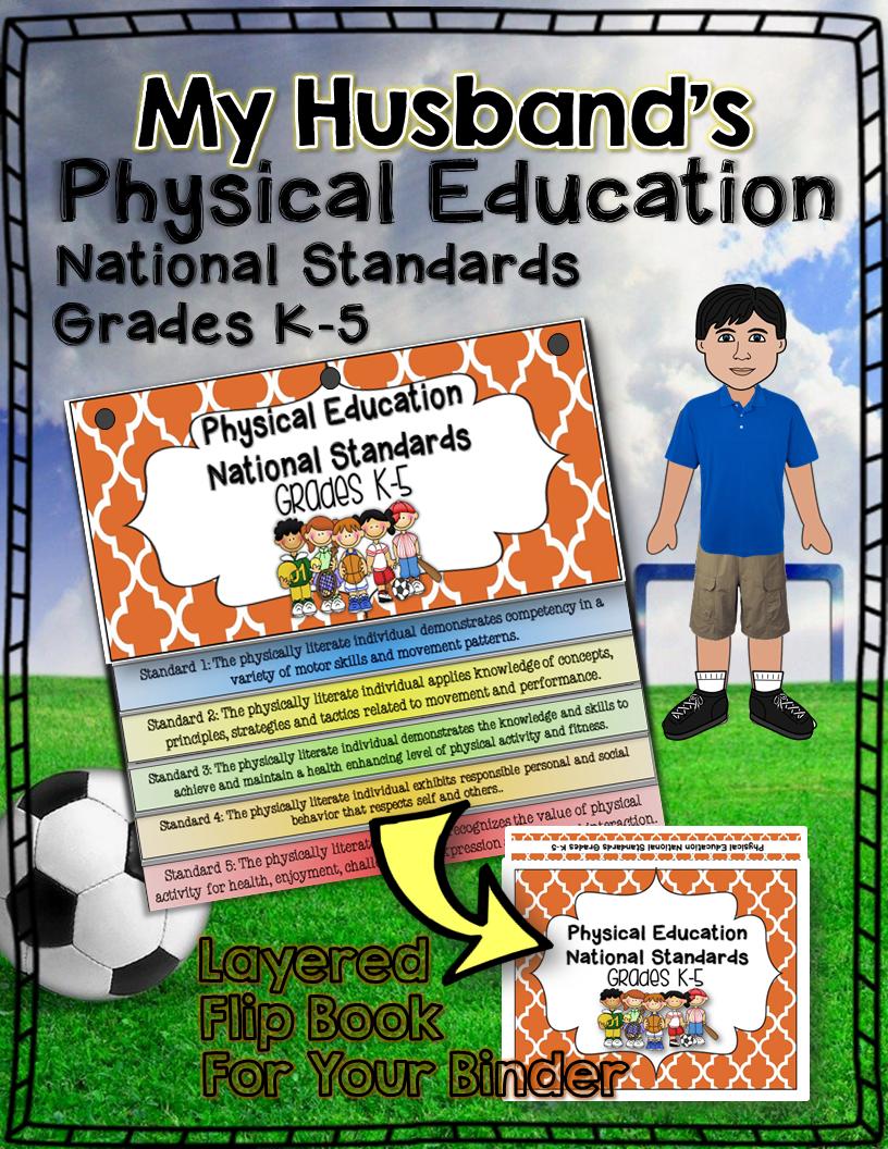 Physical education national standards binder flip book: grades k-5 ...