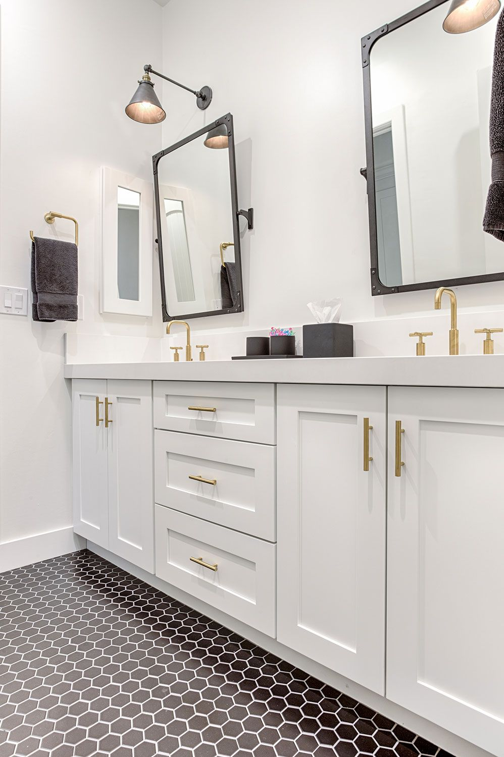 Create A Fresh Modern Bathroom With Shaker White Cabinets From