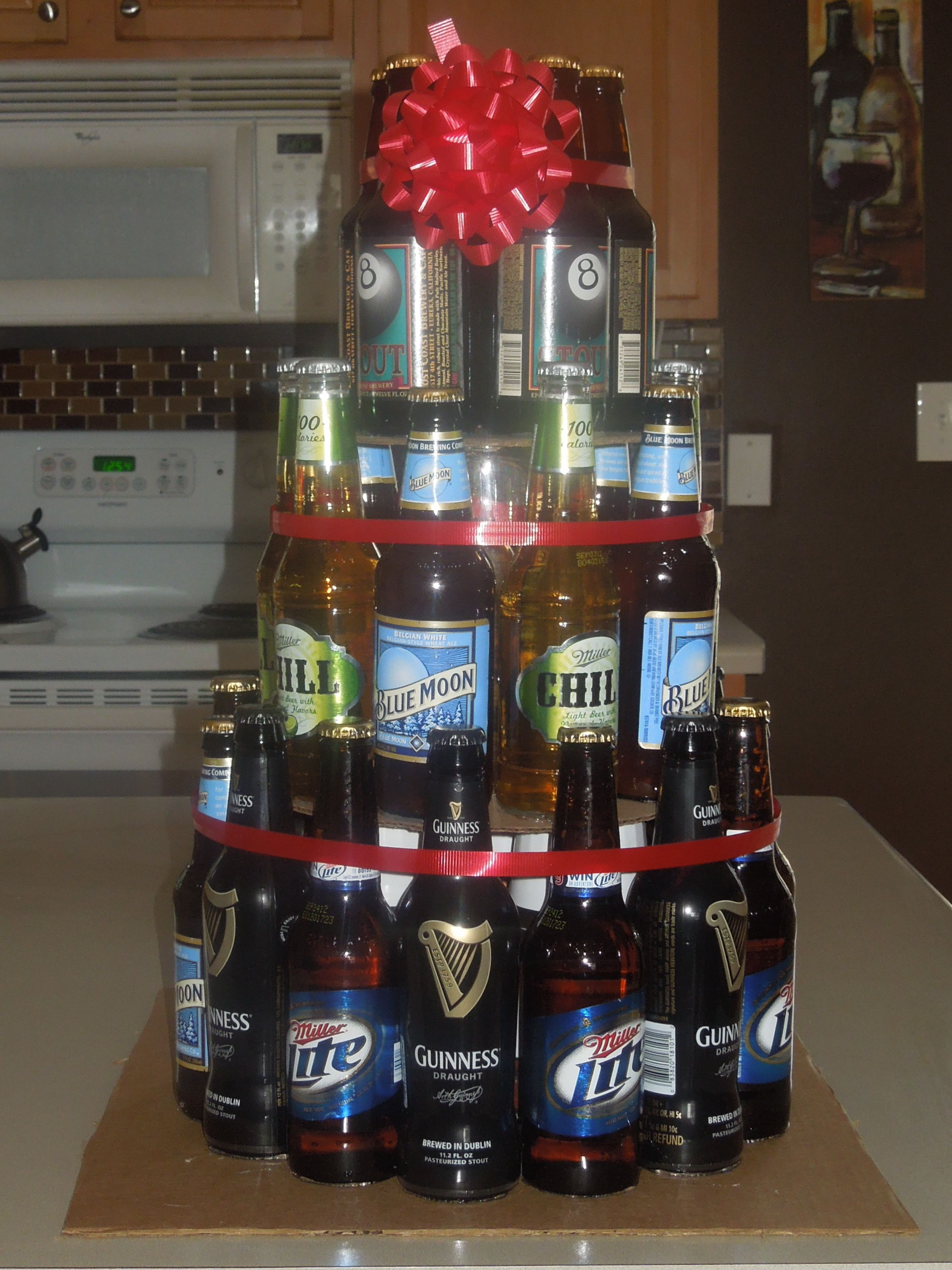 Beer Cake Inspired By All The Ones Made Of Cans 21st Bday Ideas Hubby Birthday Liquor Bouquet