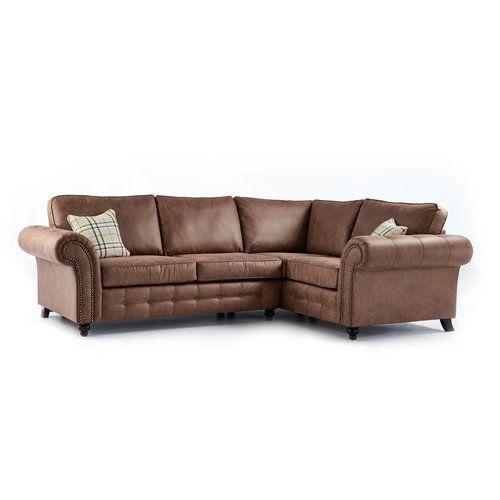 Rosalind Wheeler Harlow Corner Sofa Leather Corner Sofa Modular Corner Sofa Corner Sofa