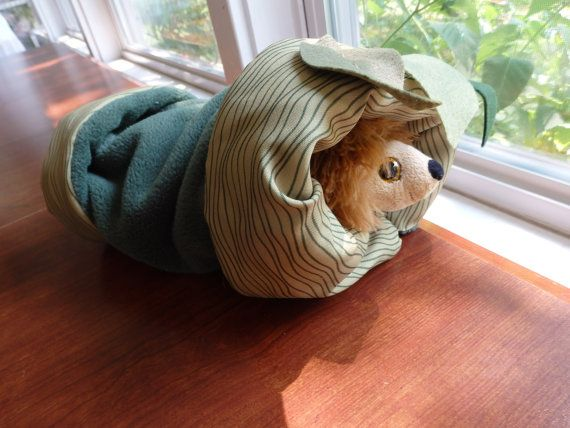 Fabric Tunnel Pet TunnelSmall Animal Tunnel Fleece by SewCat