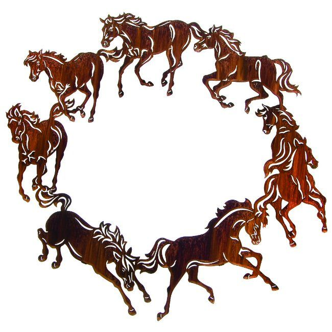 Stencil I Love Horses Western Cowboy Horse Head Shape Stars Primitive Art Signs