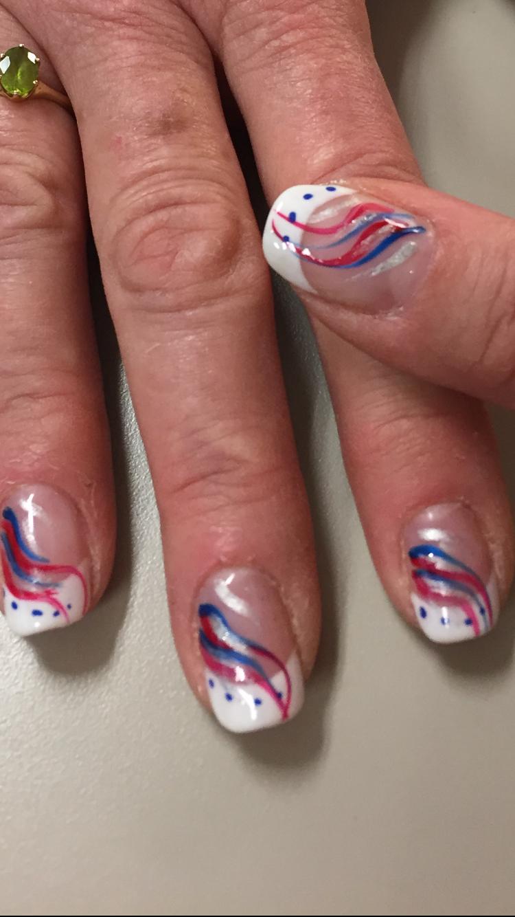 Patriotic ideas Memorial Day, 4th of July, nail art Design ...