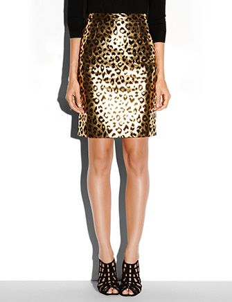Milly Pencil Leather Pencil Skirt