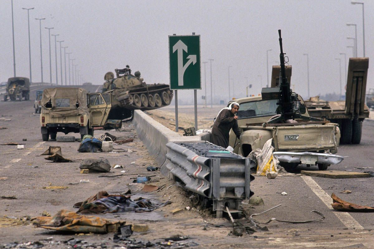 Gulf war damage a kuwaiti pumping gas from an abandon iraqi gulf war damage a kuwaiti pumping gas from an abandon iraqi vehicle sciox Image collections
