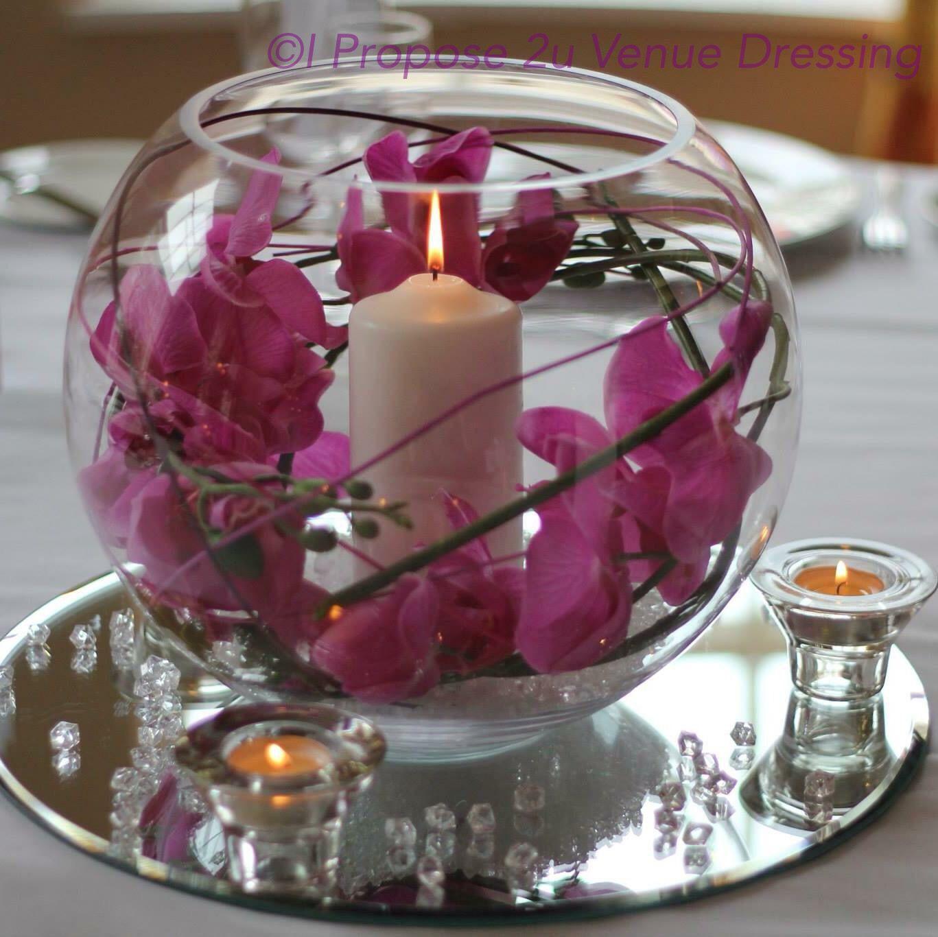 Wedding Decorations Glass Bowls Large Glass Bowl Centrepiece I Propose 2U  Pinterest  Large