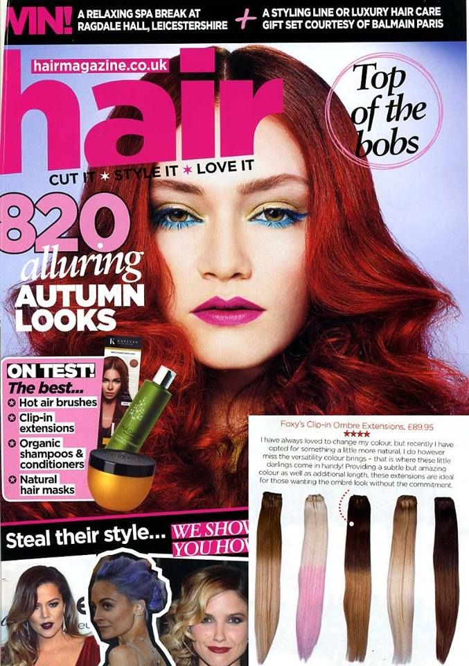 Looking for some new clip-in extensions? Why not spice your look up a bit with our #ombre clip-in #extensions, as tried & tested in Hair Magazine's September issue! #HairThatRox #foxyhairextensions #ombrehair