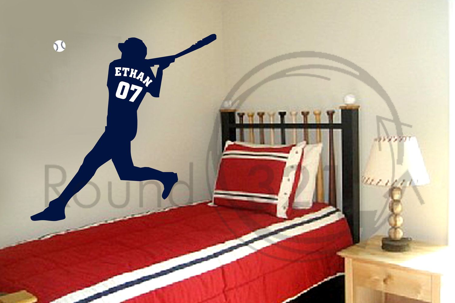 Great Baseball Wall Decal With Personalized Name U0026 Number   Childrenu0027s Room    Infant Room Decal. $45.00, Via Etsy.