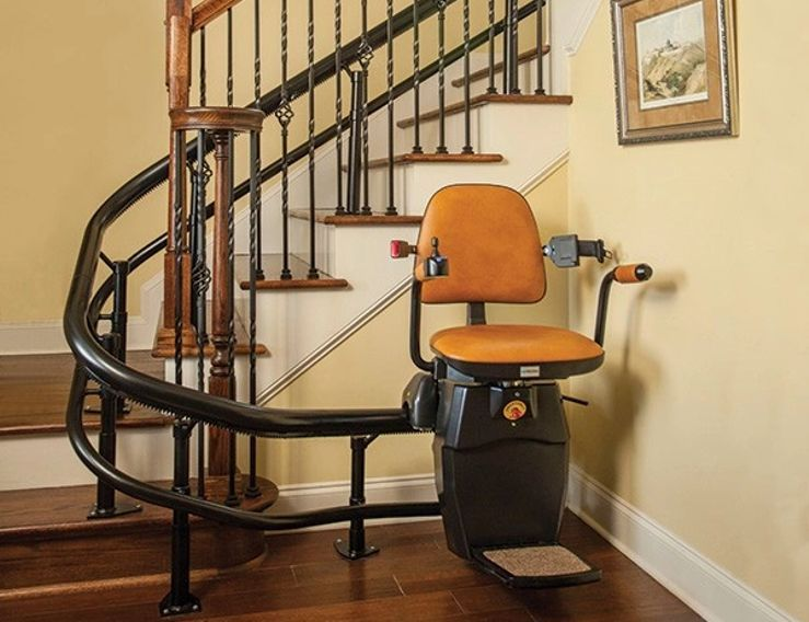 Stair Lifts By Aging In The Comfort Of Home Stair Lift Chair Lift Restoration Hardware Dining Chairs