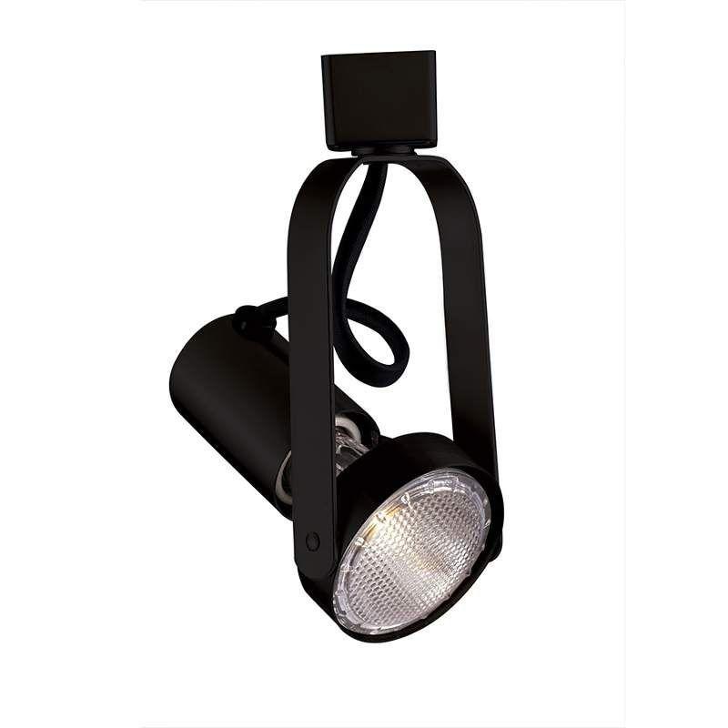 """WAC Lighting LTK-763 Line Voltage 7.188"""" Wide 1 Light Track Head for L-Track Tra Black Indoor Lighting Track Lighting Heads"""