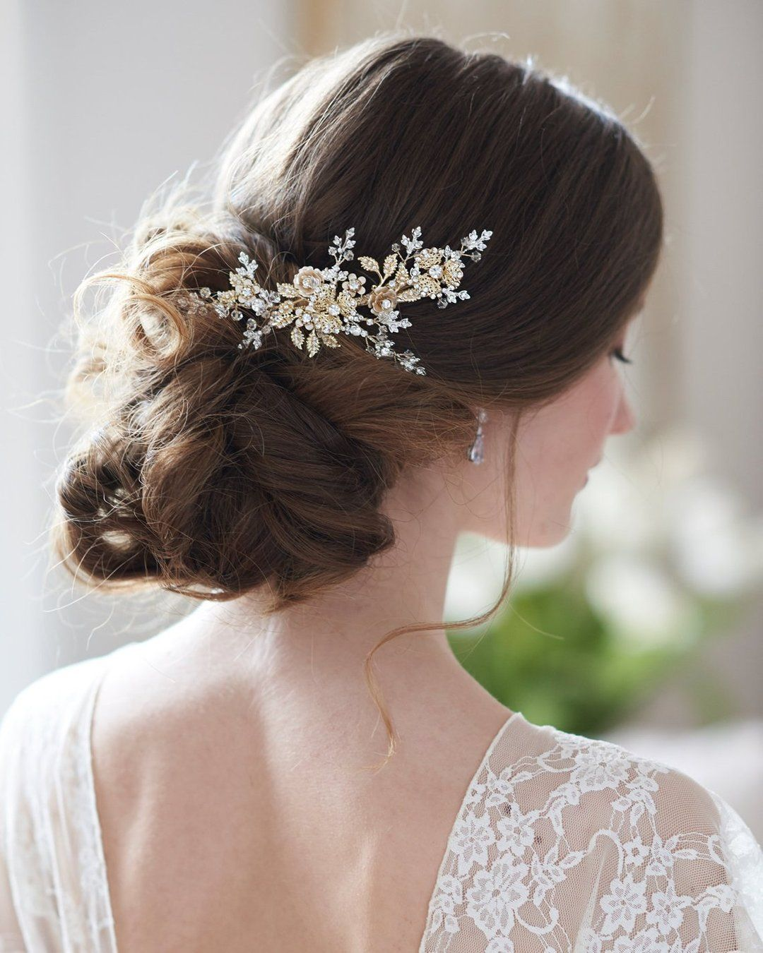 laurel bridal hair clip/comb in 2019 | bridal hair accessories