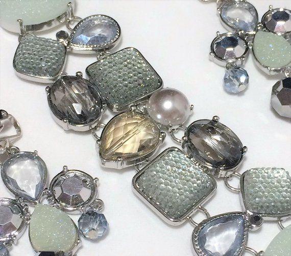 Chicos Boho Bracelet Earrings Set, Perry Mag Design, Faux