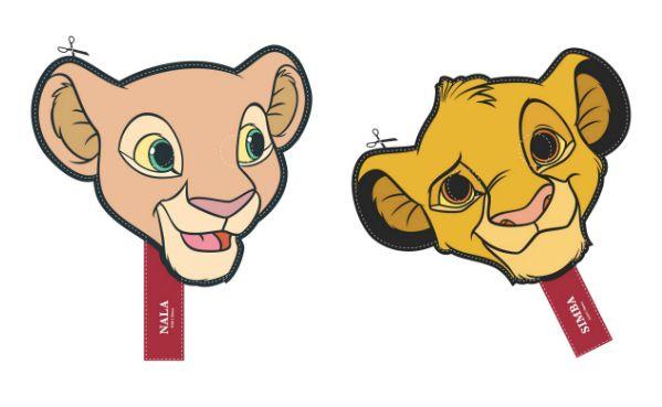 Lion King Simba Nala Timon Pumbaa Printable Masks Lion King